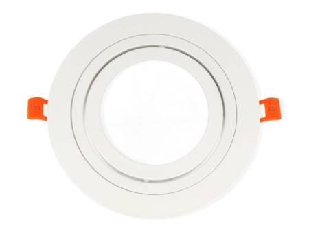 Oprawa aluminiowa AR111  okrągła ruchoma, biały mat