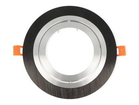 Oprawa aluminiowa AR111  okrągła ruchoma, czarny mat