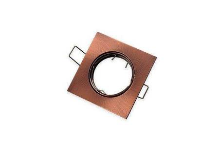 Oprawa halogenowa sufitowa kwadratowa ruchoma, odlew stopu aluminium - antyk