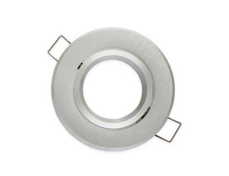 Oprawa halogenowa sufitowa okrągła ruchoma, aluminium - srebrna szczotkowana