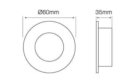 Oprawa halogenowa sufitowa okrągła stała, odlew stopu aluminium, MR11 - satyna