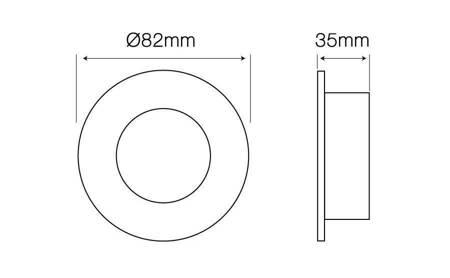 Oprawa halogenowa sufitowa okrągła stała, tłoczona - satyna