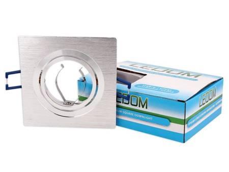 Oprawa sufitowa aluminiowa kwadratowa ruchoma srebrny szczotkowany