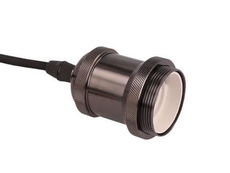 Oprawa zwieszana 1xE27 aluminium - perłowa czerń