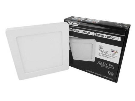 Panel LED line® Easy Fix kwadrat 12W 890lm 4000K biała dzienna