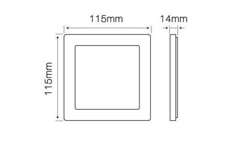 Panel LED line® EasyFix kwadrat 6W 470lm 4000K biała dzienna