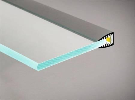 Profil krawędziowy na szybę 6mm LED Mikro10 anodowany 2 metry