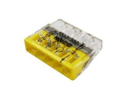 Szybkozłączka WAGO 5-torowa do przewodów typu drut o średnicy 0,5-2,5 mm2