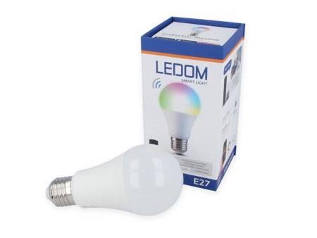 Żarówka LED E27 A60 220-240V 10W RGB WW CW 2700-6500K sterowana aplikacją TUYA