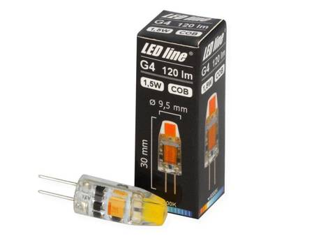 Żarówka LED G4 12V 1,5W 120lm COB 6000K biała zimna