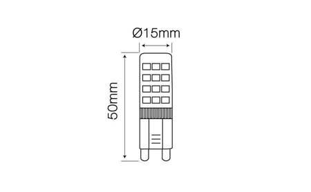 Żarówka LED G9 230V 4W biała ciepła 2700K