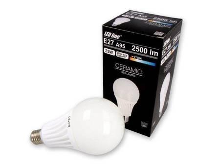 Żarówka LED line E27 170-250V 25W 2500LM biała ciepła 2700K A95