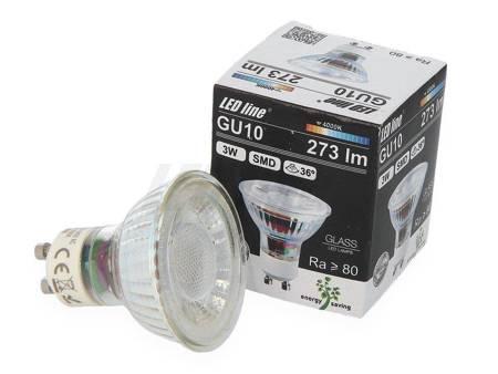 Żarówka LED line GU10 SMD 220-260V 3W 273lm 36˚ biała dzienna 4000K