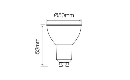 Żarówka LED line GU10 SMD 220-260V 5W 410lm 50° biała ciepła 2700K