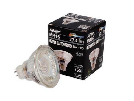 Żarówka LED line MR16 SMD 10~14V AC/DC 3W 273lm 36˚ biała ciepła 2700K