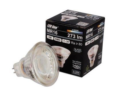 Żarówka LED line MR16 SMD 10~14V AC/DC 3W 273lm 36˚ biała zimna 6500K