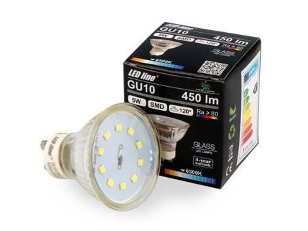 Żarówka LED line® GU10 SMD 220-260V 5W 450lm 120° biała zimna 6500K