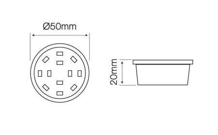 Żarówka LED line płaska meblowa 50mm 230V 5W 400lm biała ciepła 2700K