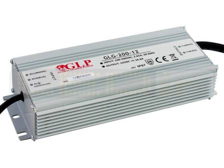Zasilacz LED GLG-200-12 16,7A 200W 12V, IP67