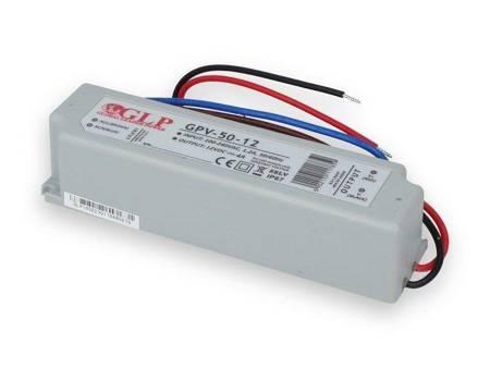 Zasilacz LED impulsowy stabilizowany 12V 50W 4A  IP67