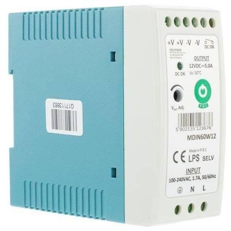Zasilacz na szynę MDIN60W12 5A 60W 12V