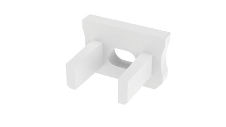 Zaślepka 1 sztuka do profilu SLIM Lumines typ X biała z otworem