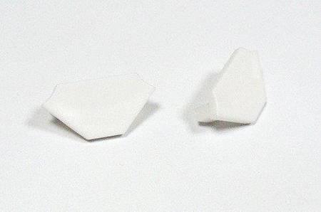 Zaślepka 1 sztuka do profilu narożnego Lumines typ C biała