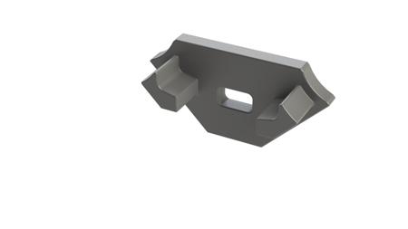 Zaślepka 1 sztuka do profilu narożnego Lumines typ C szara z otworem