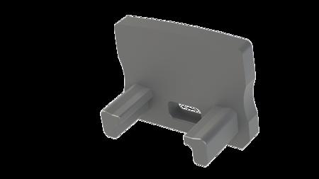 Zaślepka 1 sztuka do profilu nawierzchniowego Lumines typ A szara z otworem