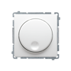 Ściemniacz naciskowo-obrotowy Kontakt-Simon Basic biały 250W do oświetlenia LED